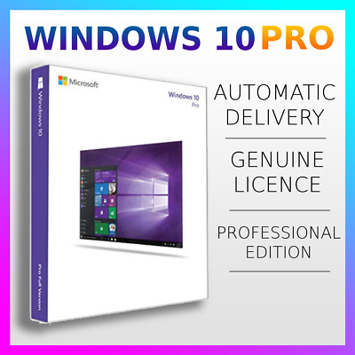Windows 10 Pro Professional  Microsoft 32/64bit Genuine License Key Product Code