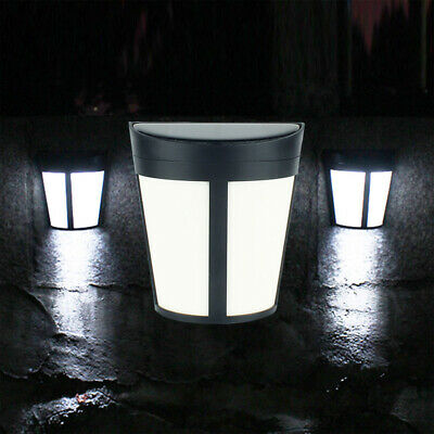 LED Outdoor Garden Fence Solar Power Light Waterproof Wall Lamp Modern Lights