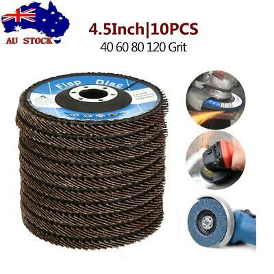 10X 125mm Cubic Zirconia Flap Discs Wheels Angle Grinder Super High Density