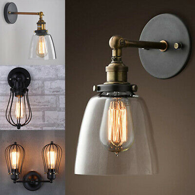 Modern Vintage Industrial Wall Mounted Lights Rustic Sconce Aisle Lamps Fixture