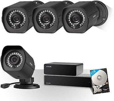 Zmodo Full HD 1080p Home 8 Channel Surveillance Camera Security System 4 Cameras