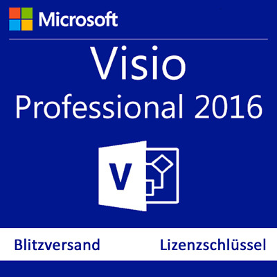 Microsoft Visio 2016 Professional Pro Vollversion Product Key Deutch  64/32 BIT