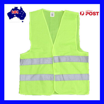 Hi Vis Safety Vest Double Reflective Tape Work Jacket High Visibility Orange New