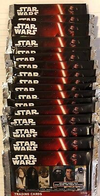 17 Packets of STAR WARS JOURNEY TO THE FORCE AWAKENS Trading Cards