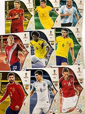 Panini WORLD CUP Russia 2018 Adrenalyn XL BASE PLAYER Football Cards Pick 25