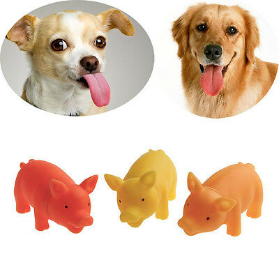 Pet Puppy Supplies Chew Squeaker Squeaky Rubber For Dog Toys Play Sound Pig Hot