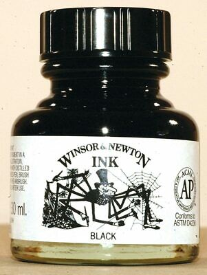 Winsor and Newton Black Indian Ink 30ml