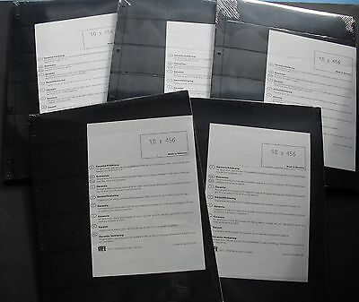 5x 10 Safe 456 Compact A4- Sheets Mit 6 Stripes, Sealed & New a 220 x 47 MM