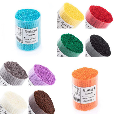 Pack of Assorted Latch Hook Yarn 250gr Needle Punch 10 Colos Precut Wool Strands