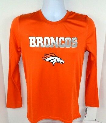 96f8ec7e BRONCO NFL VINTAGE boys Kids navy Long Sleeve Shirt size 16/18 ...