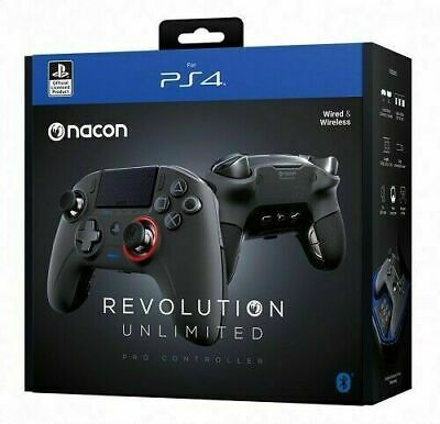 Controller Nacon Revolution Wireless Unlimited V3 Play Station 4 Nero Ps4 - Pc