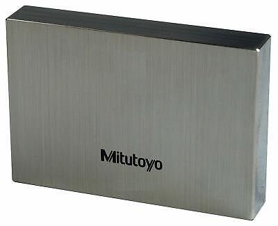 Mitutoyo 611888-531 Steel Rectangular Gage Block, ASME Grade 0, 0.46 mm Length