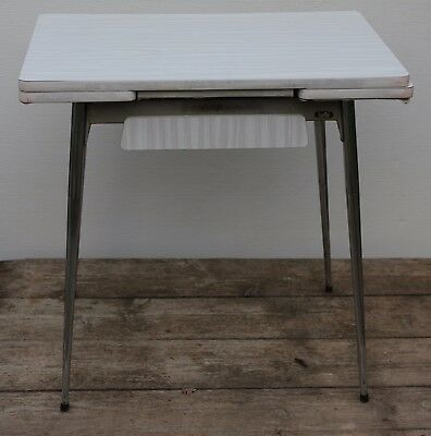 Mid Century / 60's French Formica & Chrome LAFA Extending Kitchen Dining Table