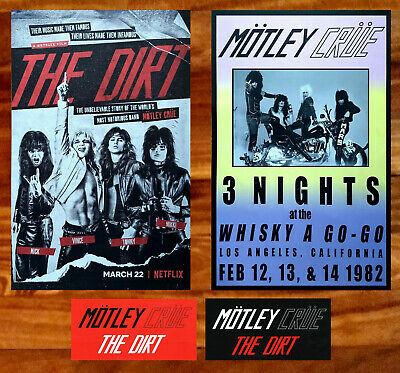 MOTLEY CRUE The Dirt | Whiskey LA 1982 Ltd Ed Vintage RARE Posters+Stickers Lot!