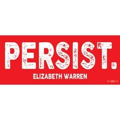 Elizabeth Warren 2020 For President Red Persist Bumper Sticker Decal