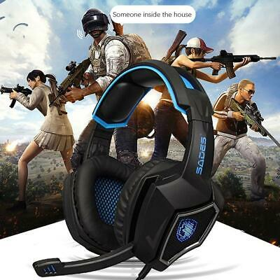 SADES Spirit Wolf 7.1 Surround Stereo Gaming Headset Headphone with Mic for PC