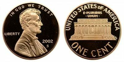 2002 S GEM BU PROOF Lincoln MemoriaL BRILLIANT UNCIRCULATED PENNY US COIN PF