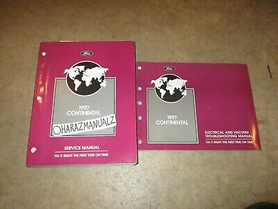 1997 ford lincoln continental wiring diagrams & service manuals manual oem