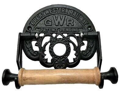 Victorian Style Toilet Roll Holder  Black Iron Gwr Railway Novelty Retro