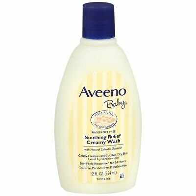 AVEENO Baby Soothing Relief Creamy Wash - 12 OZ (3 Packs)