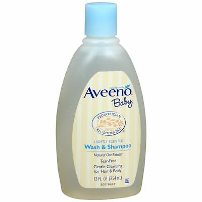 AVEENO Baby Wash and Shampoo Lightly Scented - 12 OZ (3 Packs)