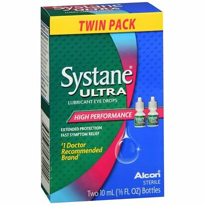 Systane Ultra Lubrifiant Eye Gouttes Haute Performance - 20 ML (2 Paquets)