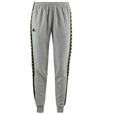 08381787196 KAPPA 3031R30 222 Banda Agrif Slim Fleece Track Pants Grey Black Gold