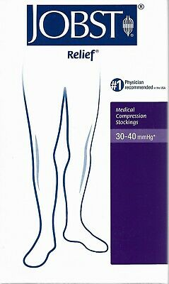 Jobst Relief Medical Compression Stockings Beige XL knee CT 30-40 mmhg