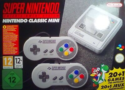 Classic Mini Super Nes Nintendo Entertainment Snes 21 Giochi Joypads Hdmi Nuovo