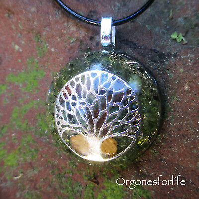 Orgone Silver Plated 'Tree Of Life'' Energy Healing  Pendant