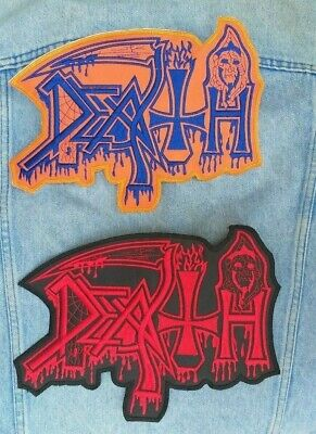 Death embroidered logo back patch death metal morbid angel napalm master deicide