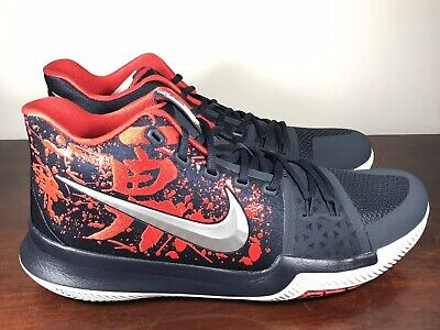 f6a51f0a5fc Men s Nike Kyrie 3 Samurai Christmas Mystery Release QS 852395-900 Size 12.5