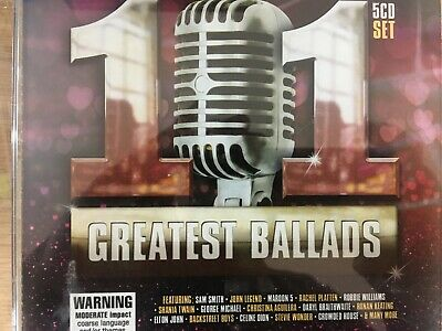 101 GREATEST BALLADS - Various 5 x CD Sony / Universal Excellent Condition! 5CD