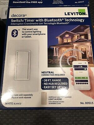 Leviton DDS15 Decora Switch Timer With Bluetooth - 3 Pack