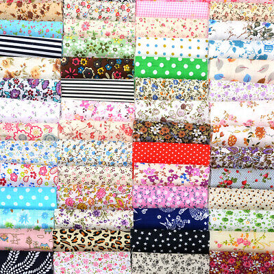 60Pcs Coloré Assorti Tissu Coton Carreaux Patchwork Coupon Fleur textile FR