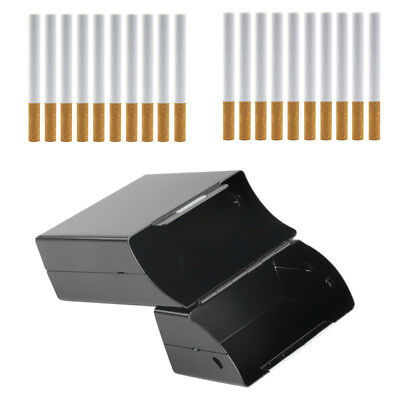Black Aluminum Metal Cigar Cigarette Box Holder Tobacco Storage Case Gift V9