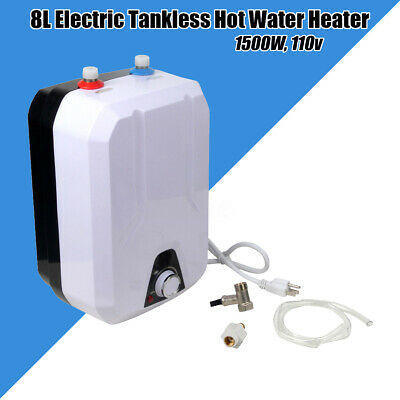 8L Electric Hot Water Storage Tank Heater 1500W Kitchen Bathroom Home