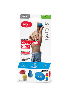 Sugru I000437 Mouldable Glue - Family-Safe Formula - Red, Yellow & Blue (3-pack)