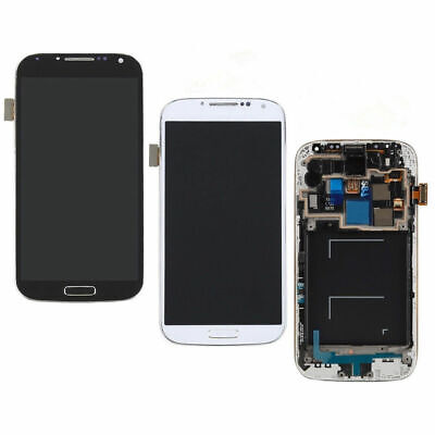 LCD Digitizer Display Screen For Samsung Galaxy S4 i337 M919  Replace USA+Frame