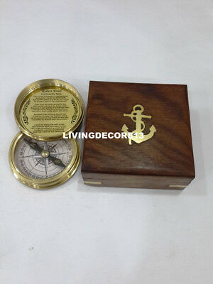 Maritime  Nautical Boy scouts Of American Compass with Anchor Wooden Box