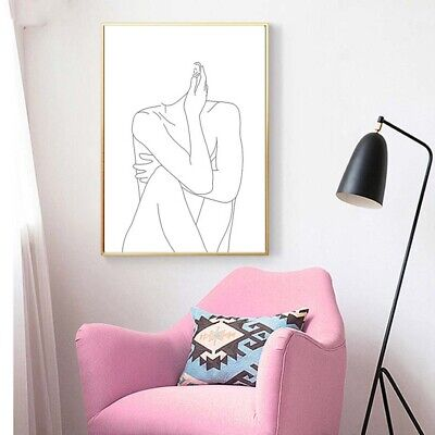 Sexy Girl Body Portraits Art Canvas Painting Girls Room Poster Picture Modern