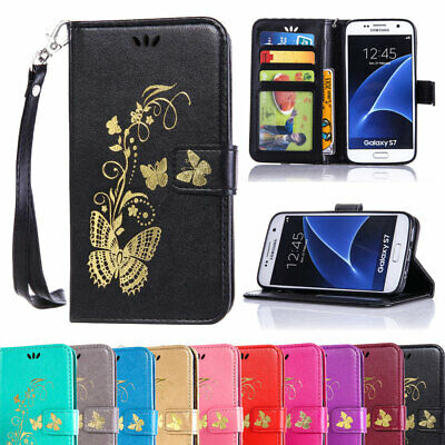 For Samsung Galaxy S7/EDGE S8/Plus Flip Card Wallet Stand Soft PU Leather Case
