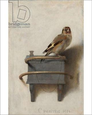 "10""x8"" (25x20cm) Print of The Goldfinch, 1654 (oil on panel) from"