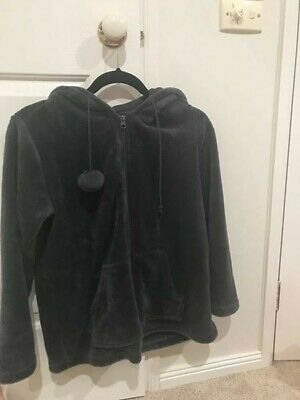 Womens hooded Dressing Gown Jacket/Lounge Jacket