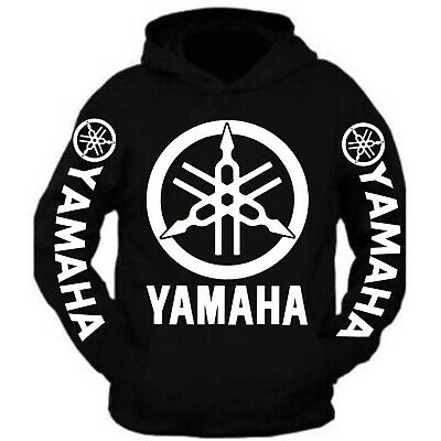 Yamaha Racing Hoodie Black Moto Hooded Sweatshirt Banshee Yzf R1 R6