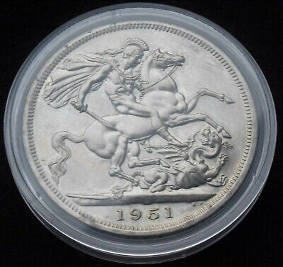 1951 Festival of Britain King George VI five shilling crown coin