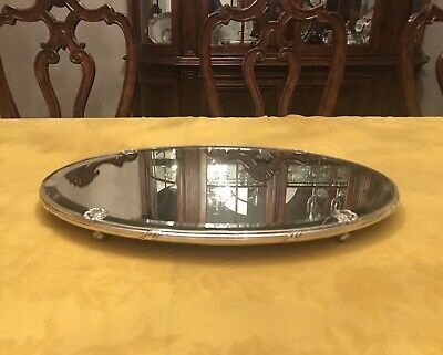 Antique Early French Silver And Mirrored Plateau