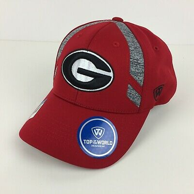 new arrivals 4a051 6a693 Georgia Bulldogs Cap Embroidered Logo Grey Panels Adjustable Hat Color Red