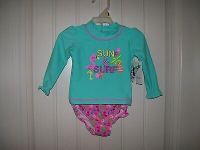 Kiko /& Max Infant Girls One-Piece Peplum Swimsuit Size 3//6M 6//9M 12M 18M 24M