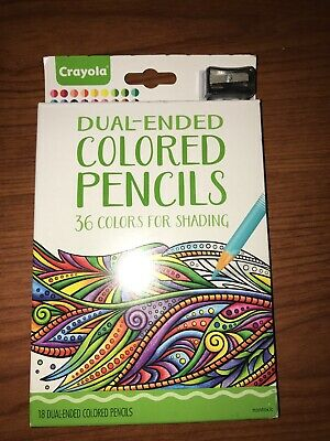 Crayola Dual-Ended Colored Pencils 36 Colors with Sharpener Coloring Art